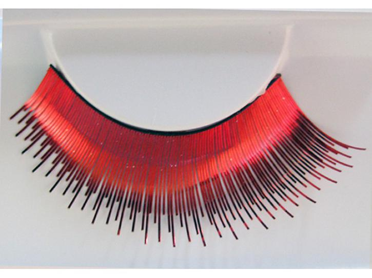 Wimpern rot holographisch