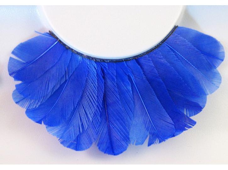 Wimpern blaue Federn