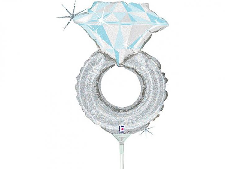 Folienballon Hochzeitsring 14