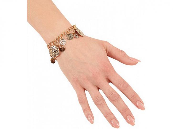Armband mit Münzen gold