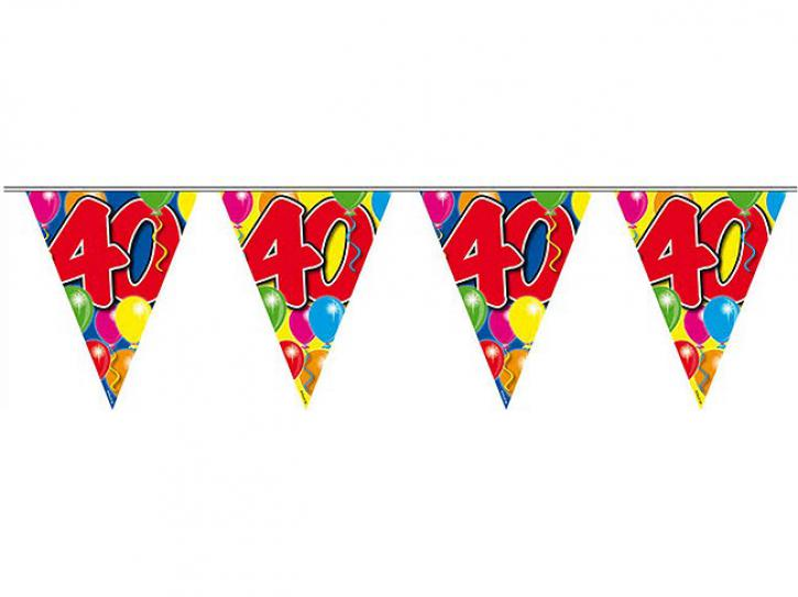 Wimpelkette Ballons 40 Jahr, 10m