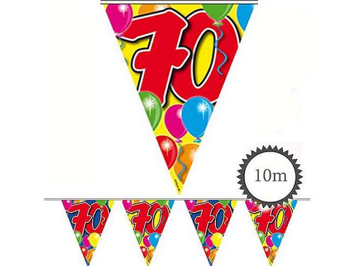 Wimpelkette Ballons 70 Jahr, 10m