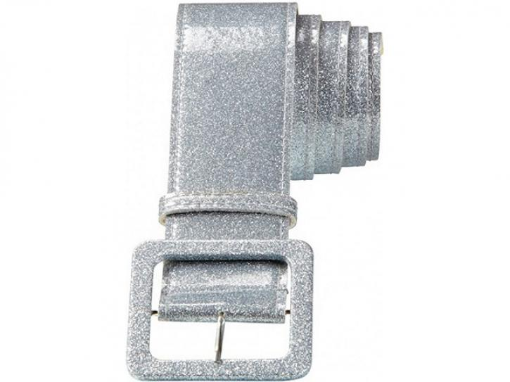Gürtel Glitter-silber