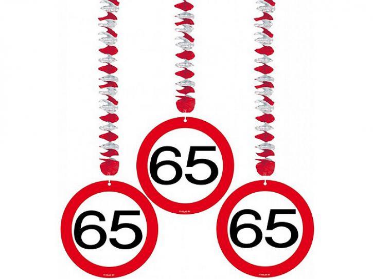 Rotorspiralen Verkehrsschild 65 3 Stk.