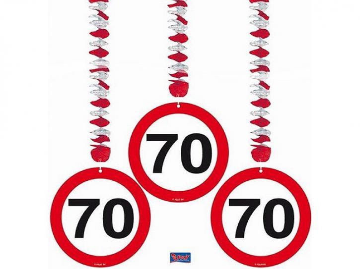 Rotorspiralen Verkehrsschild 70 3 Stk.