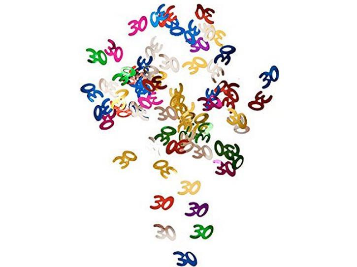 Tischkonfetti Zahl 30 bunt 14g