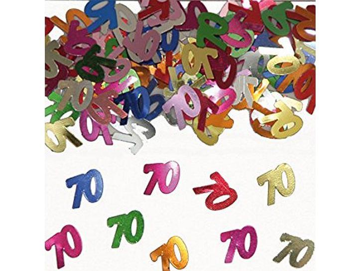 Tischkonfetti Zahl 70 bunt 14g