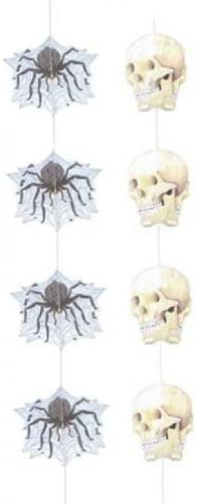 Dekohänger Schädel u.Spinnen 2 Stk.