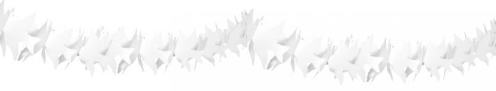 Girlande Papier Taube weiß 6m