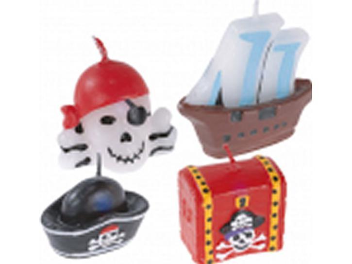 Kerze Pirat 4 Stk.