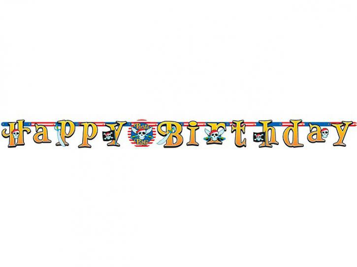 Banner Pirate Party Happy Birthday