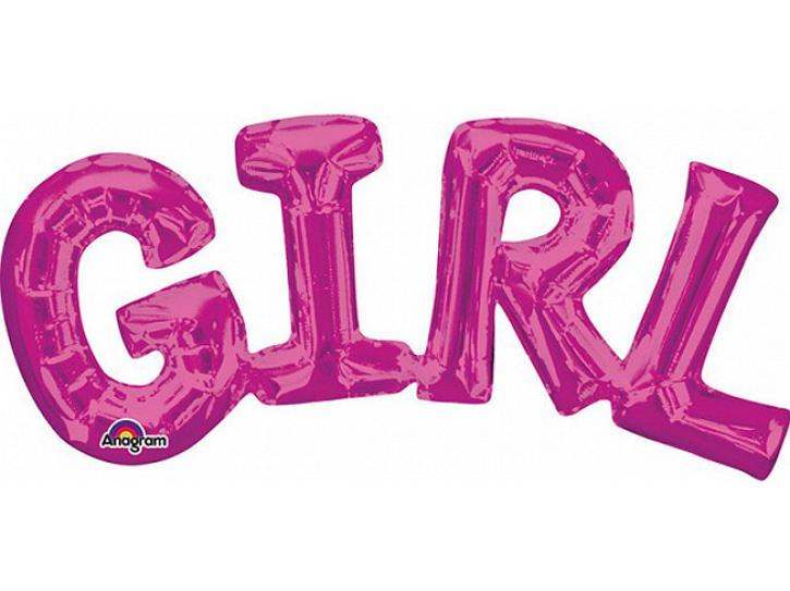 Folienballon Schriftzug GIRL