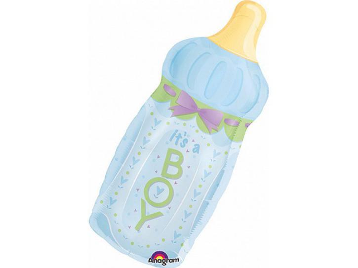 Folienballon Babyfläschchen Boy