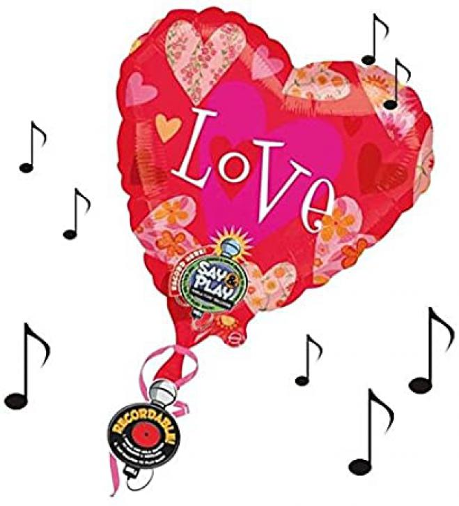 Folienballon Flower Hearts Love 32