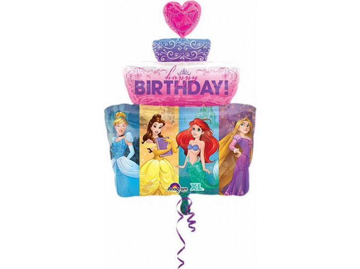 Folienballon Disney Prinzessinen Torte
