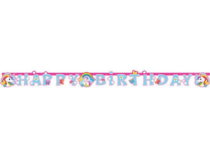 Girlande Happy Birthday Einhorn