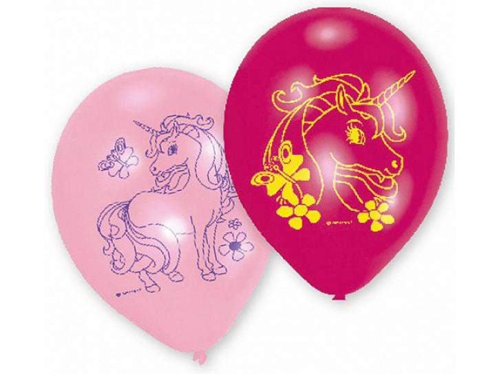 Luftballon Einhorn 6 Stk.