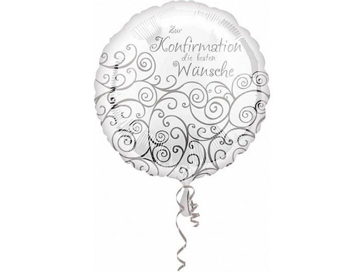 Folienballon zur Konfirmation 45 cm