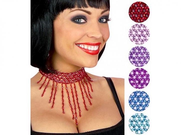 Halsband mit Perlen sortiert