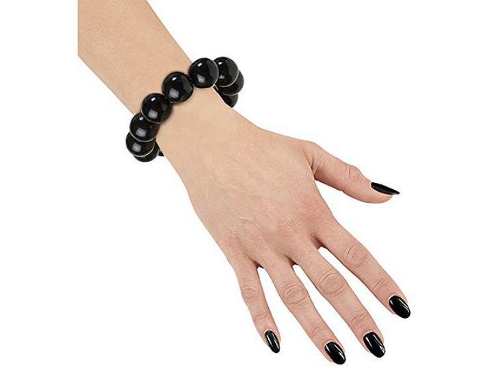 Armband Perlen schwarz