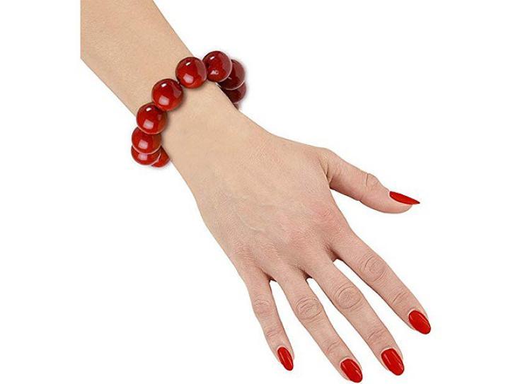 Armband Perlen rot
