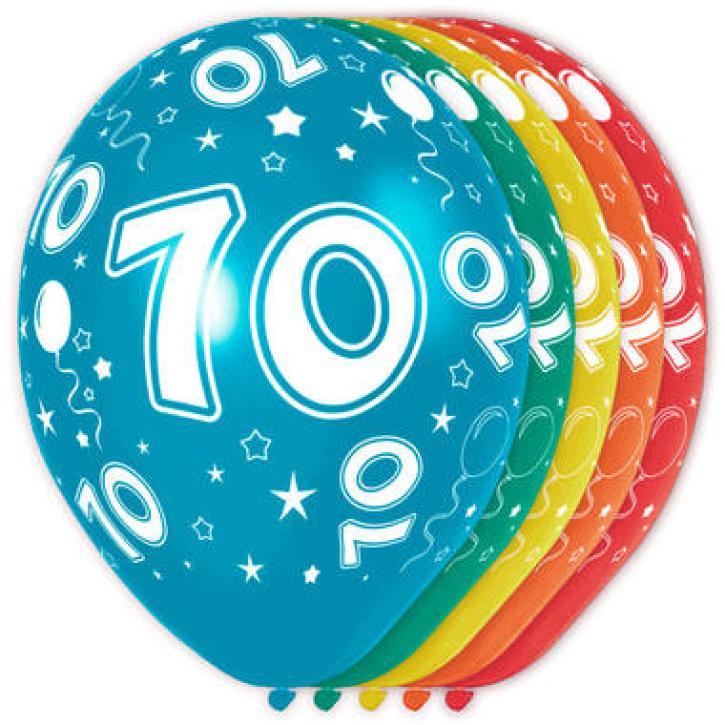Latexballons Zahl 70 5 Stk.
