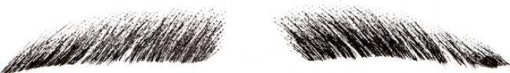 Augenbrauen dick schwarz