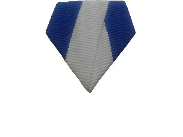 Bandschluppe blau-weiß