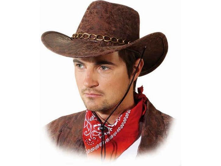 Cowboyhut Wildleder braun KW 59