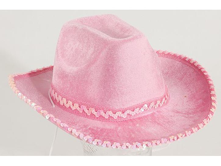 Cowboyhut pink mit Paillettenborte KW 58