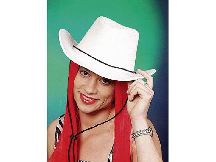 Cowboyhut Samt weiß KW 57