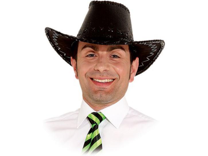 Cowboyhut Pailletten schwarz