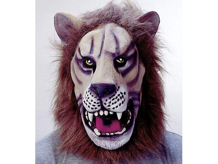 Maske Löwe mit Fell