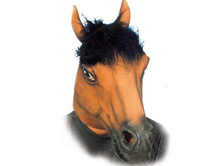Maske Pferdekopf braun