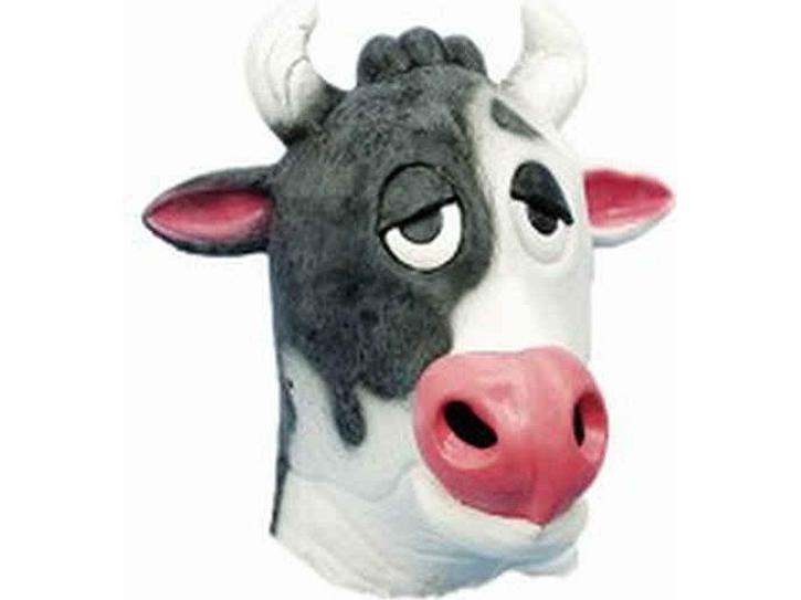Maske Kuh Maske aus Gummi