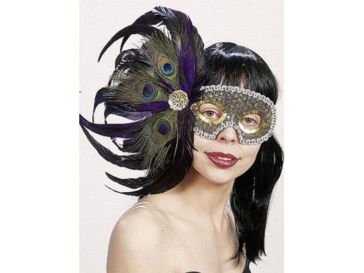 Maske mit Federn de Luxe