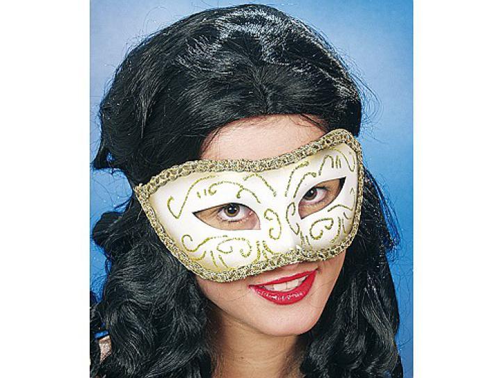 Halbmaske Venedig silber/gold