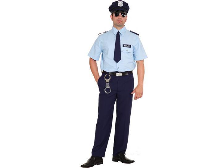 Kostüm American Police 3-tlg. Gr.58/60
