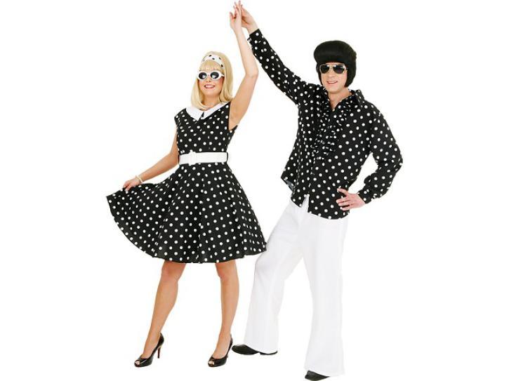 Kleid Rockn Roll schwarz/weiß Gr.48