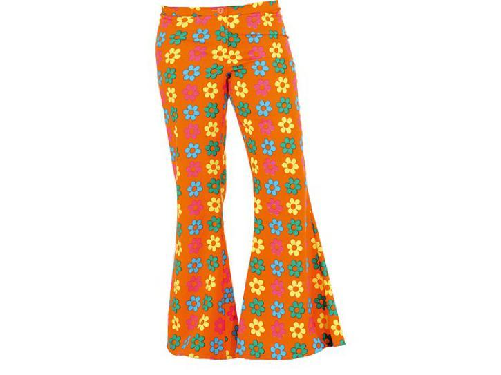 Schlaghose orange mit Blumen Gr.34