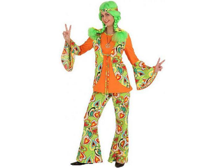 Kostüm Hippie Woman Gr.50/52