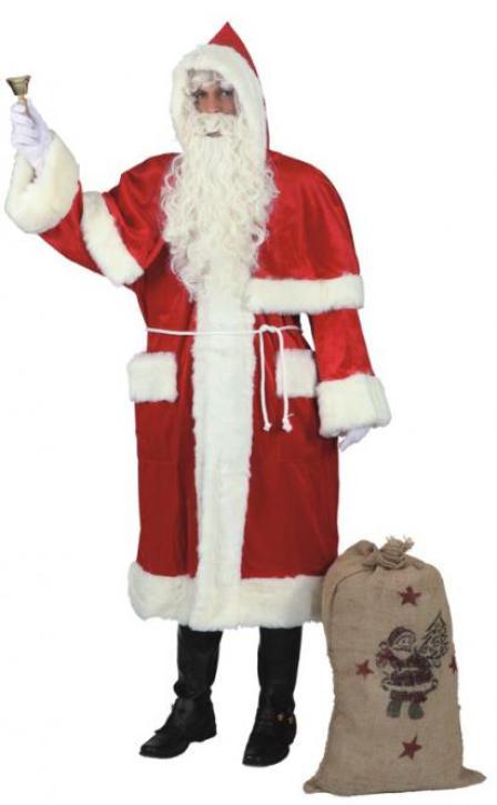 Weihnachtsmann Mantel dunkelrot Gr. 52/54