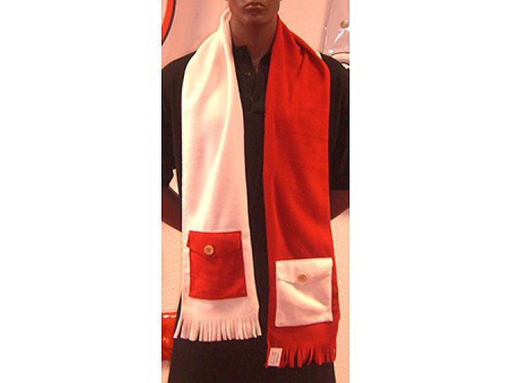 Schal rot/weiß mit Taschen Sonderpreis!
