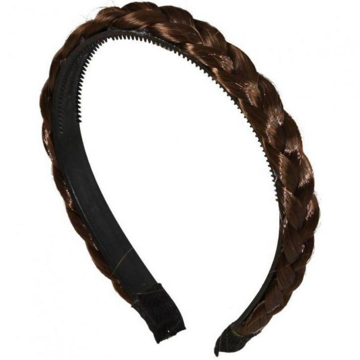 Haarreif geflochten braun