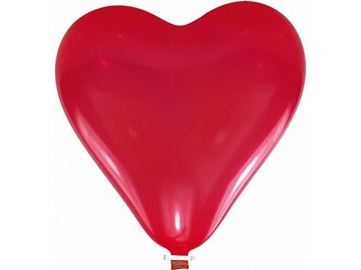 Luftballon groß herz rot