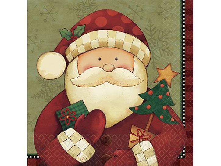 Servietten Weihnachtsmann 16 Stk.