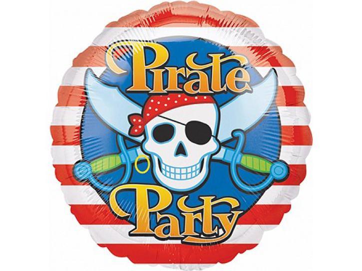 Folienballon Pirate Party 45cm
