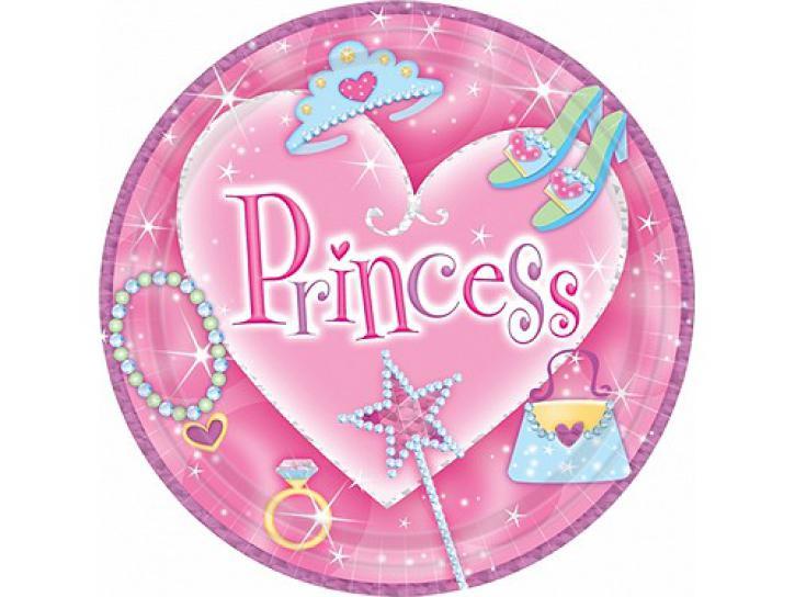 Teller Princess pink 8 Stk.