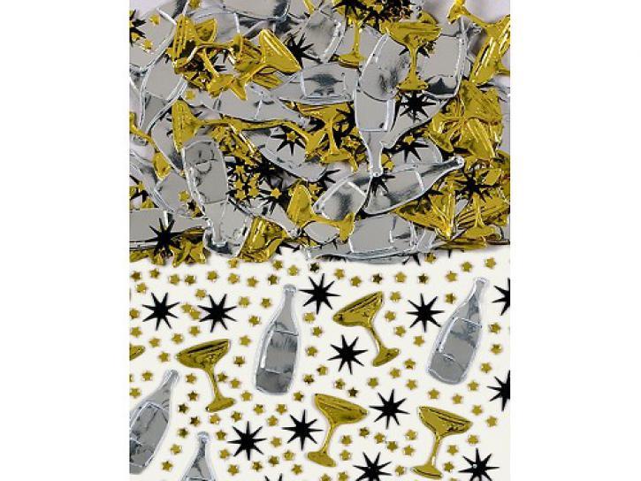 Konfetti Champagne schw/gold 14g