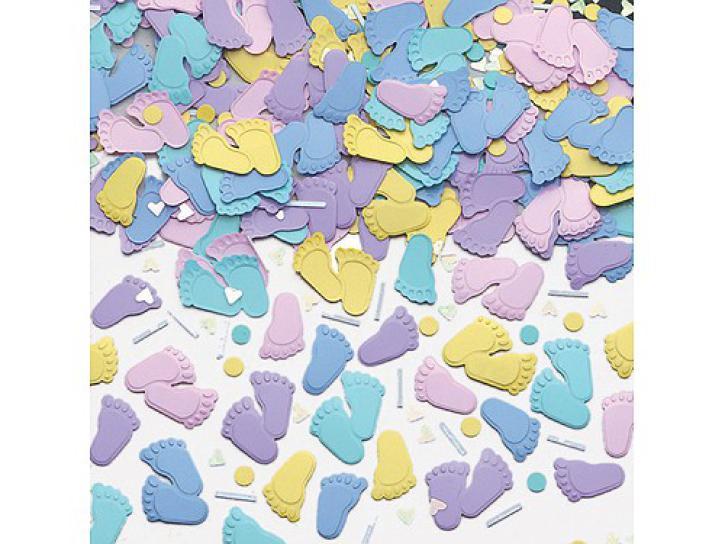 Konfetti Babyfüße sortiert 14 g